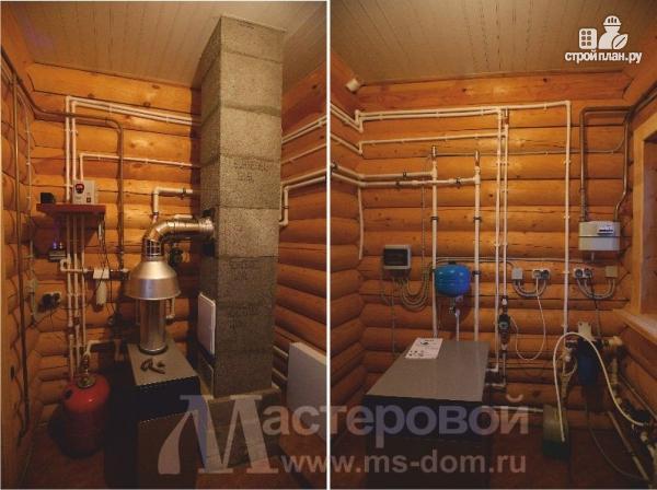 Фото 5: проект двухэтажный дом из оцилиндрованного бревна 260мм