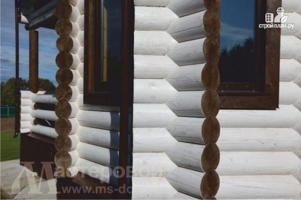 Фото 6: проект двухэтажный дом из оцилиндрованного бревна 260мм