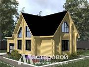 Фото: бревенчатый дом с гаражом