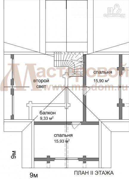 Фото 3: проект бревенчатый дом с гаражом