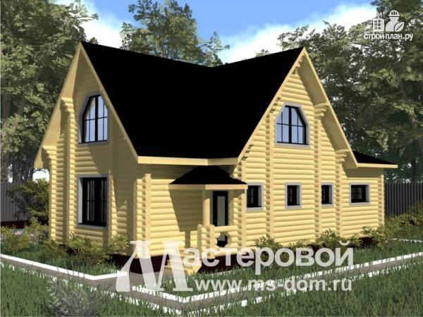 Фото 5: проект бревенчатый дом с гаражом