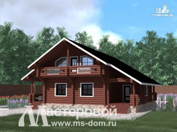 Фото: проект большой двухэтажный дом из бревна