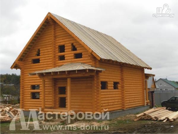 Фото 5: проект бревенчатый дом с большой террасой
