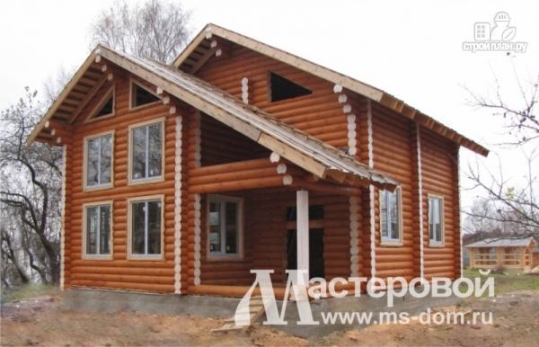 Фото 4: проект деревянный дом-шале из бревна