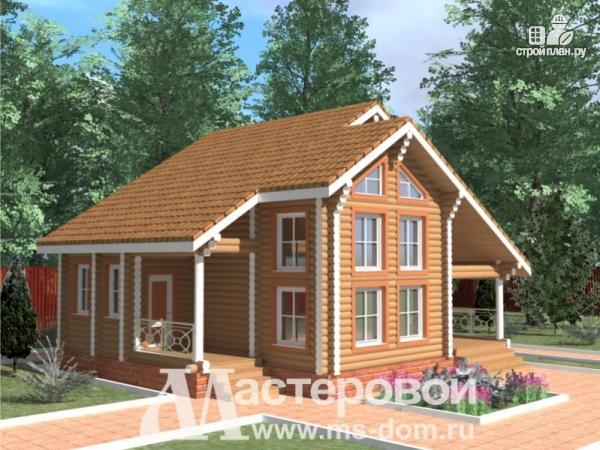 Фото: проект деревянный дом-шале из бревна