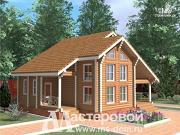 Фото: деревянный дом-шале из бревна