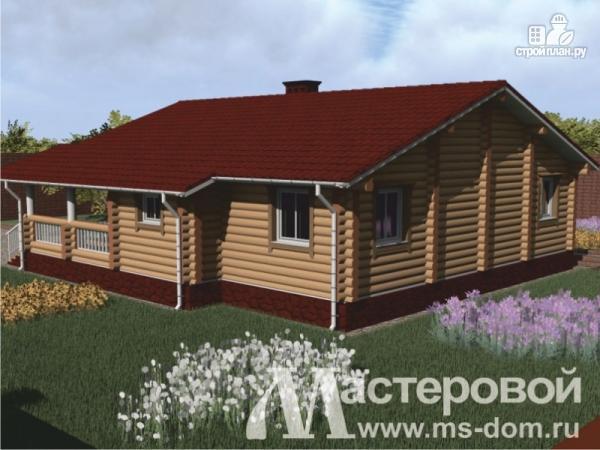 Фото 3: проект одноэтажный дом из оцилиндрованного бревна 240мм