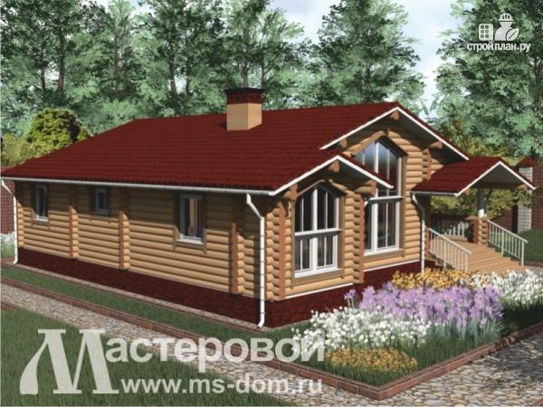 Фото 4: проект одноэтажный дом из оцилиндрованного бревна 240мм