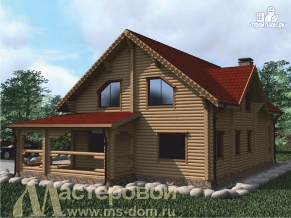 Фото 6: проект двухэтажный дом из оцилиндрованного бревна 220 мм