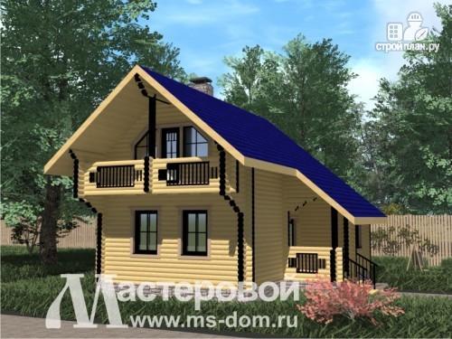 Фото: проект дом из бревна 200 мм