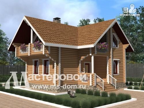 Фото: проект дом из бревна для летнего отдыха