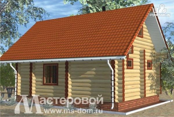 Фото 4: проект дом-баня 6х8 из бревна