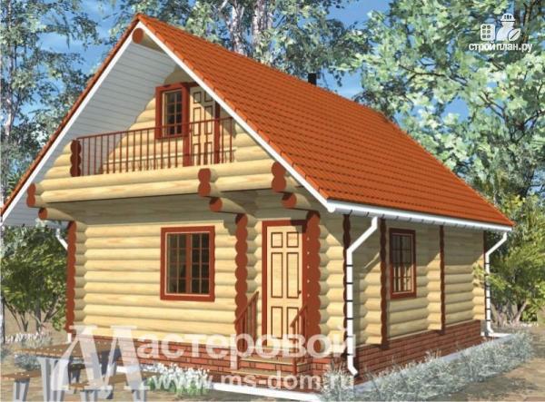 Фото: проект дом-баня 6х8 из бревна