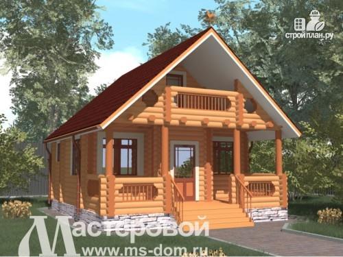 Фото: проект дом-баня 7х8 из бревна
