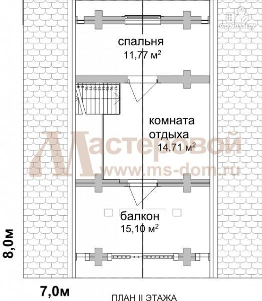 Фото 3: проект дом-баня 7х8 из бревна