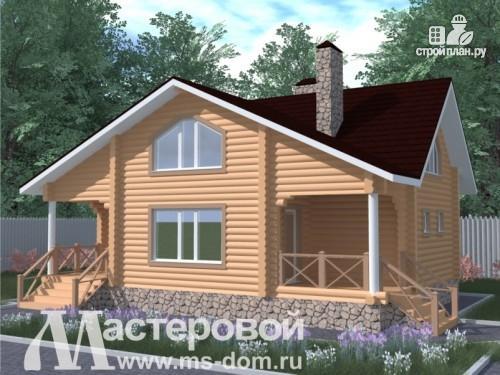 Фото: проект дом из бревна с сауной и бильярдной