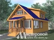 Проект дом-баня 6х9 из бруса