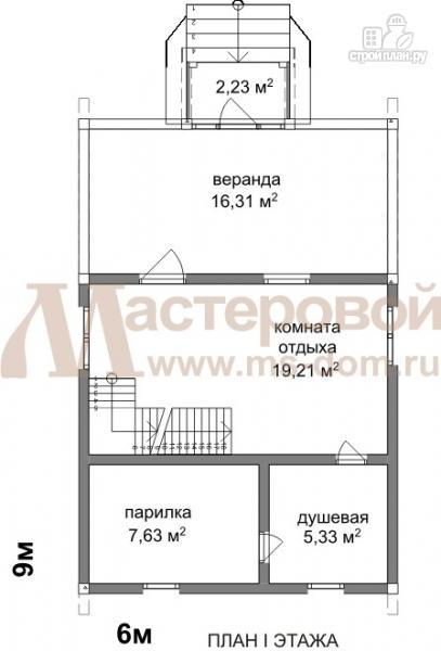 Фото 2: проект дом-баня 6х9 из бруса
