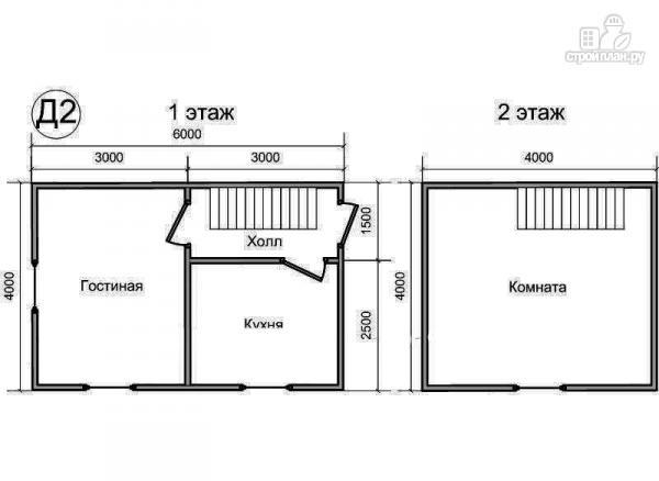 Фото 2: проект деревянный дом 4х6 из бруса, с мансардой