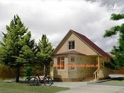 Фото: деревянный дом 6х6 из бруса, с эркером