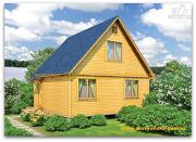 Проект деревянный дом 6х6 из бруса