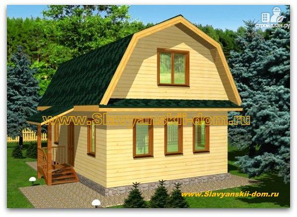 Фото: проект деревянный дом 6х9 из бруса