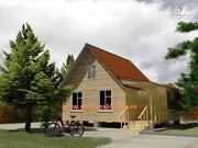 Фото: деревянный дом 6х8 из бруса