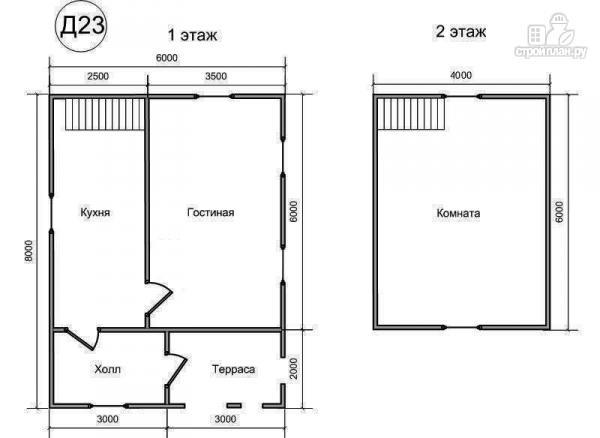 Фото 2: проект деревянный дом 6х8 из бруса