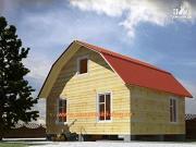Фото: деревянный дом из бруса с террасой и верандой