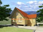 Фото: деревянный дом из бруса