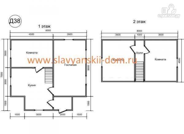 Фото 2: проект двухэтажный деревянный дом из бруса