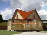 Проект двухэтажный дом из бруса с эркером