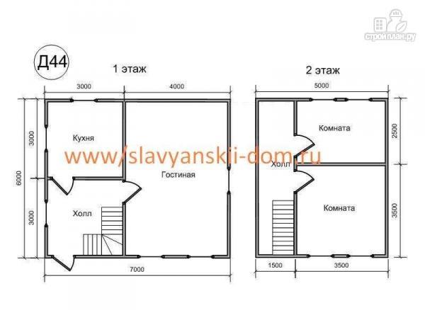 Фото 2: проект деревянный дом 6х7 из бруса