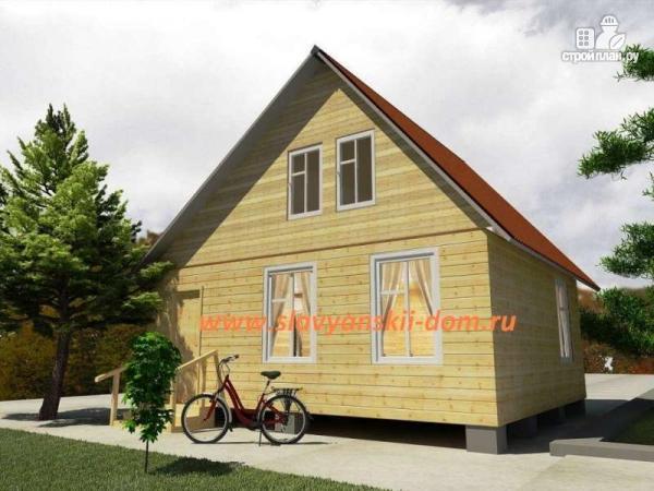 Фото: проект деревянный дом 6х7 из бруса