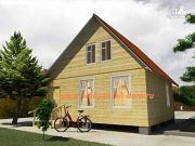 Фото: деревянный дом 6х7 из бруса