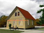 Проект деревянный дом 6х7 из бруса