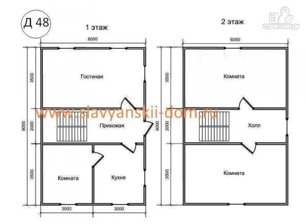 Фото 2: проект деревянный дом 6х9 из бруса
