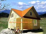 Проект деревянный дом 6х8 из бруса с крыльцом