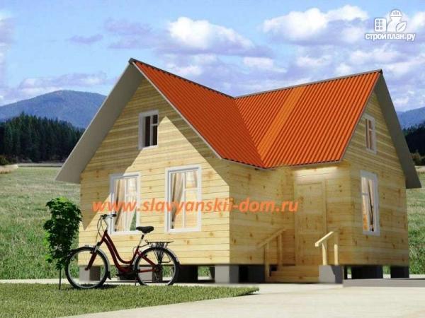 Фото: проект деревянный дом 7х8 из бруса