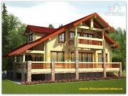 Фото: брусовой дом с угловой террасой