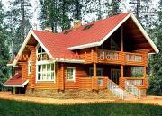 Фото: дом 10х13 из оцилиндрованного бревна