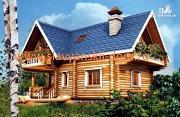 Фото: деревянный дом 7х7 из оцилиндрованного бревна