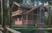 Фото: деревянный дом 8х10 из бревна