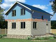 Проект жилой каркасный дом 6х6 по канадской технологии