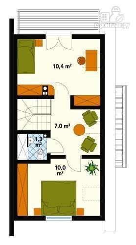 Фото 3: проект двухэтажный каркасный дом по канадской технологии