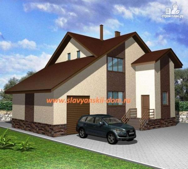Фото: проект жилой каркасный дом по канадской технологии, с гаражом