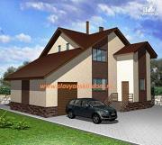 Проект жилой каркасный дом по канадской технологии, с гаражом