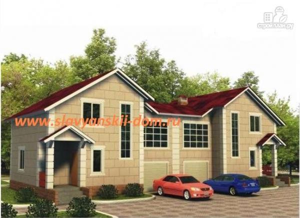 Фото: проект жилой каркасный дом по канадской технологии, с гаражом и тамбуром