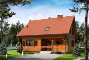 Проект двухэтажный каркасный дом с террасой