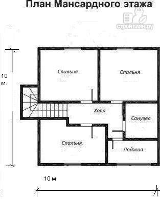 Фото 3: проект жилой каркасный дом по канадской технологии, с гаражом и тамбуром